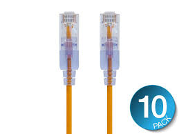 10pack 1m 3ft cable cat6 flat utp ethernet network cable rj45 patch lan