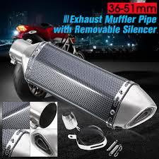 <b>Universal 36</b>-<b>51mm</b> Motorcycle Carbon Fiber Stainless Steel ...