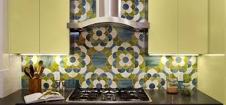 Simple Ann Sacks Glass Tile Backsplash Chrysanthemum Mosaic In Quartz Peridot And Jade To Ideas