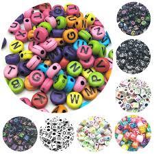 <b>100pcs</b>/<b>lot</b> 7mm Handmade Round Square Colorful Alphabet/Letter ...