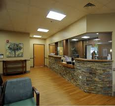 medical office reception area design bow front reception counter office reception desk