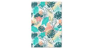 Colorful tropical leaves pattern collage tissue paper | Zazzle.com
