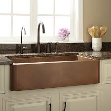 hammered copper kitchen sink: quot raina hammered copper farmhouse sink