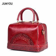 <b>Genuine Leather Handbags</b> For Women Fashion Vintage Printing ...