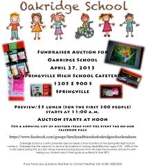 fundraiser auction for oakridge school school district fundraiser auction for 2013 8x10 flyer jpg