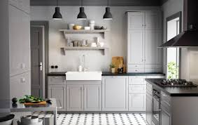 Interesting Ikea Modern Kitchen A Country With Grey Inset Doors Black On Creativity Ideas