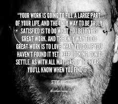 your work is going to fill a large part of your life and the only preview quote