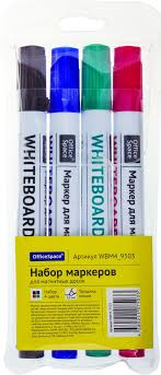 OfficeSpace <b>Набор маркеров</b> для белых <b>досок</b> 4 цвета — купить в ...
