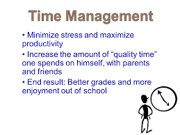 study skills improving student achievement time management goal  minimize stress and maximize productivity increase the amount of quality time one spends on