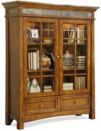 brown wooden tall cabinet with glass doors and wooden drawers also storage on ceramics flooring adorable office library furniture full size