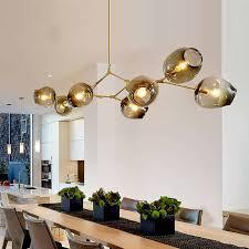 <b>Modern</b> Chrome Glass <b>Balls LED Pendant</b> Chandelier Light For ...