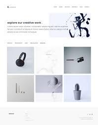 xeon minimal portfolio template by thecreo themeforest xeon minimal portfolio template