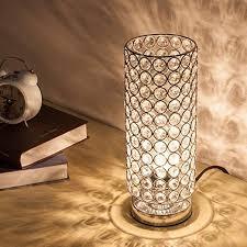 ZEEFO Crystal Table Lamp, <b>Modern Style K9</b> Crystal Desk Lamp, 28 ...