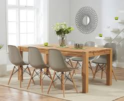extendable dining table vitra: verona cm solid oak extending dining table with charles eames style dsw eiffel chairs