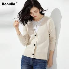 <b>2019 Banulin 2019 New</b> Autumn Women Knitted V Neck Long ...