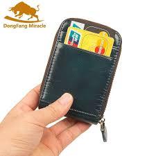 Genuine <b>Leather</b> Women <b>Card</b> Holder Wallets Men Rfid Credit <b>Card</b> ...