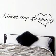 Best value <b>Never Stop Dreaming Wall</b> Decal – Great deals on Never ...