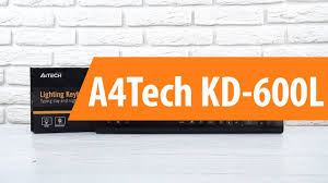 Распаковка <b>клавиатуры A4Tech KD</b>-<b>600L</b> / Unboxing A4Tech KD ...
