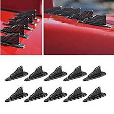 Alpha racing Air Vortex Generator Diffuser Shark Fin <b>10pcs Set</b> Kit