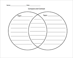 free venn diagram templates   free sample  example format    a diagram template   two overlapping cycles for comparing two topics  the two cycles shows different topics while the overlap area shows the similarities