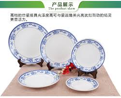 <b>Melamine</b> Tableware Set Blue and White Porcelain <b>Fashion Bowls</b> ...