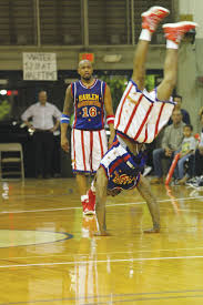 around the world and home again the wilson times flip of the harlem globetrotters lives up to his nick as teammate scooter looks on wednesday