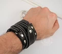 <b>Мужской браслет</b> напульсник из кожи, ручная работа, «<b>Boroda</b> ...