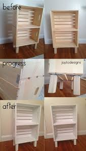 ideas bedside tables pinterest night: diy bookcase night stand or storage super easy crates from joanns  middot diy nightstand