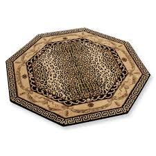 hexagonal shape leopard print rug for floor decoration ideas chic zebra print rug