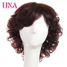 <b>UNA</b> Short <b>Human Hair Wigs</b> For Women Non Remy Natural Wavy ...