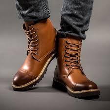 Men <b>Boots</b> Genuine Leather Premium Quality Retro <b>Fashion Martin</b> ...