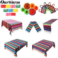 <b>OurWarm Mexican Party</b> Supplies Serape Cotton Tablecloth Table ...