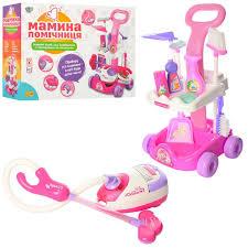 Детский <b>Игровой набор для уборки</b> с пылесосом - тележка, ведро ...