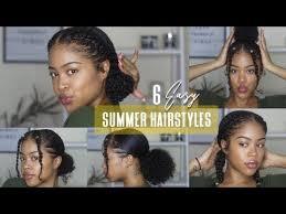 6 EASY (NO BRAID) <b>NATURAL</b> HAIRSTYLES   Perfect for <b>Summer</b> ...