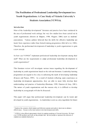 literature review on youth leadership sample