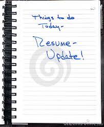 resume updatenote to update resume  click