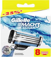 Купить <b>Кассеты</b> для бритья <b>Gillette Mach3</b> Start 8шт с доставкой ...