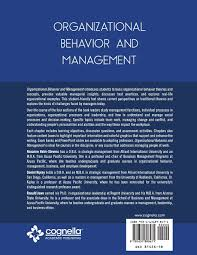 organizational behavior and management roxanne helm stevens organizational behavior and management roxanne helm stevens daniel kipley ronald jewe 9781631898471 com books