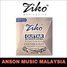 <b>Ziko DUS</b>-011 Silver Plating Custom Light <b>Acoustic</b> Guitar Strings ...