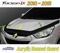Acrylic Bonnet Guard Garnish Deflector <b>D650</b> Black 1P for <b>Hyundai</b> ...
