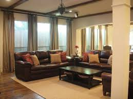 living room attractive chocolate sofa ideas with interior dark brown leather design beige fabric rug wooden laminate flooring cream brown living room furniture ideas