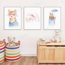 <b>Cartoon</b> Animals Cute Horse Cat <b>Bear</b> • <b>Posters</b> & <b>Prints</b>, Rectangle ...