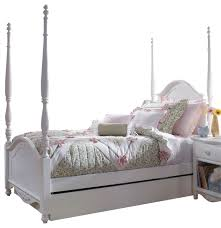 lea haley poster bed in white twin traditional kids beds amazing white kids poster bedroom furniture