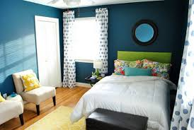 modern small bedroom interior design with blue wall decoration ideas to create relaxing small bedroom design blue small bedroom ideas