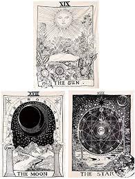<b>SOFTBATFY</b> Tarot Tapestry The Moon The Star The Sun Tapestry ...