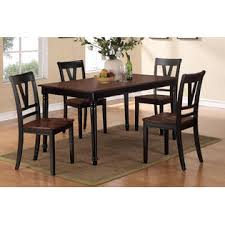 frolax cherry wooden dining room 5pc set of table framed back simple chairs furniture cherry wood furniture
