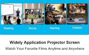 Portable Projector Screen 100 inch, 16:9 Foldable ... - Amazon.com