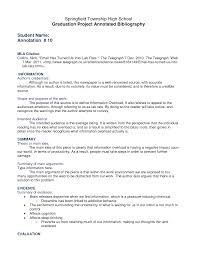 Examples of an Annotated Bibliography   MLA style