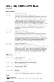 supply chain manager resume samples   visualcv resume samples databasesupply chain manager resume samples