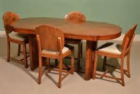 antique art deco dining chair sets antique art deco dining table cloudback chairs c art deco dining suite